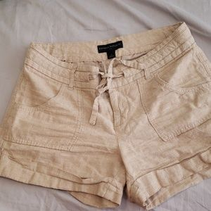 Knit tan shorts